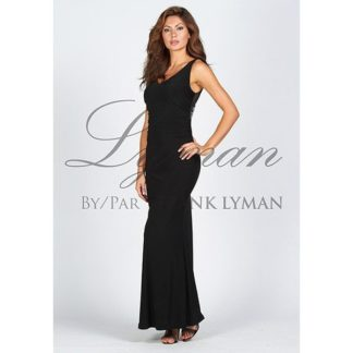 Frank Lyman Black Evening Dress. Style 58008.