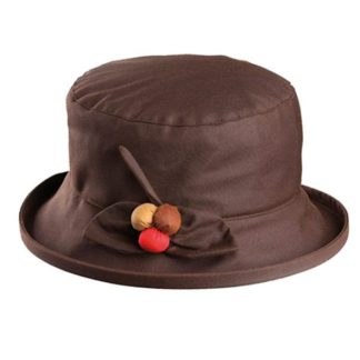 Olney Berry Brown Wax Hat. Style R4606.