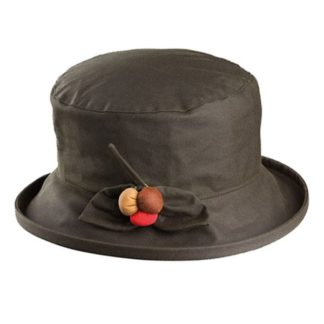 Olney Berry Olive Wax Hat.