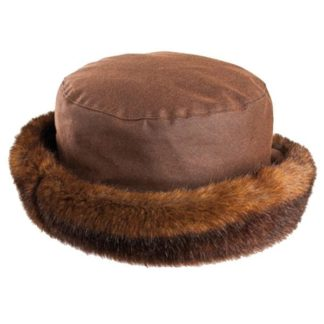 Olney Beth Brown Wax & Fur Hat.