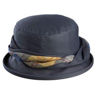 Olney Emma Navy Wax Hat. Style R4384.
