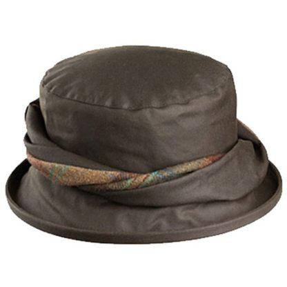 Olney Emma Olive Wax Hat.