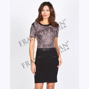 Frank Lyman Black & Pink Dress Style 54666.