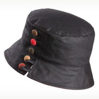 Olney Olivia Black Wax Hat.