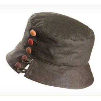 Olney Olivia Olive Wax Hat.