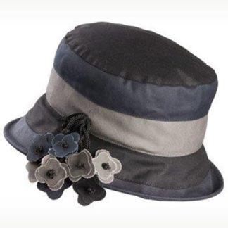 Olney Ruth Black Multi Wax Hat.