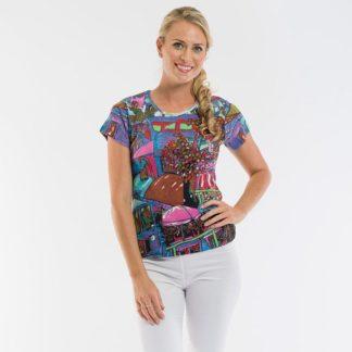 Orientique Cafe Purple T Shirt Style 72221C.