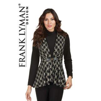 Frank Lyman Black & Taupe Soft Jacket Style 173313.
