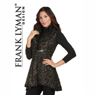 Frank Lyman Black & Gold Tunic Waistcoat Style 173480.