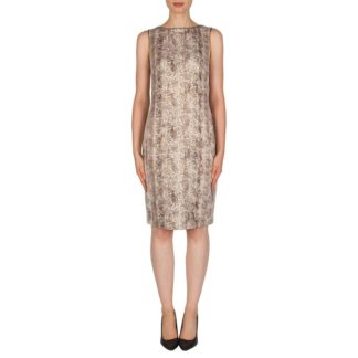 Joseph Ribkoff Beige/Taupe Sparkle Dress Style 181658.