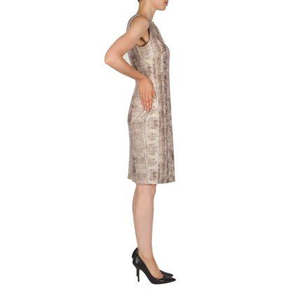 Joseph Ribkoff Beige/Taupe Sparkle Dress Style 181658.