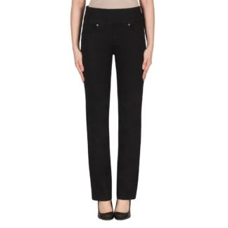Joseph Ribkoff Slim/Trim Black Denim Pant Style 181961.