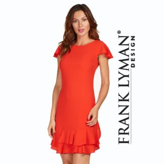 Frank Lyman Orange Dress Style 176172.