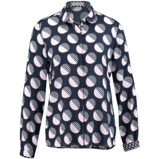 Gerry Weber Navy/Pink Blouse Style 660014.