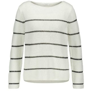 Gerry Weber White/Black Stripe Sweater Style 671073.