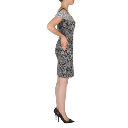 Joseph Ribkoff Black/White Pattern Dress.