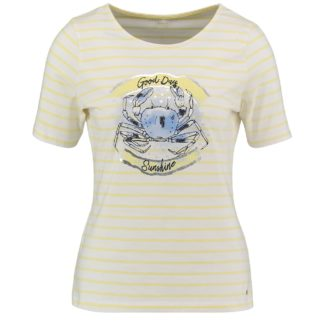 Gerry Weber Lemon/White Stripe T Shirt Style 670144.