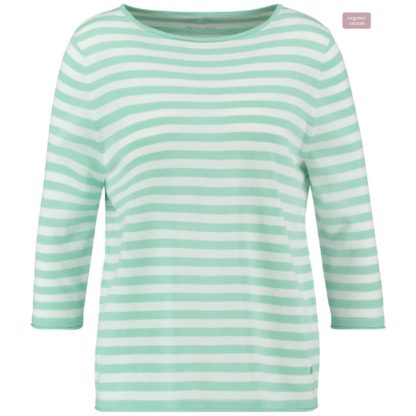 Gerry Weber Mint/White Cotton Sweater Style 671112.