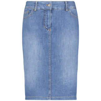 Gerry Weber Blue Denim Skirt Style 91073.