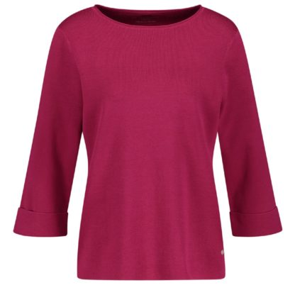 Gerry Weber Dark Pink Cotton Sweater Style 770511.