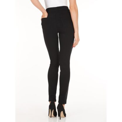 FDJ Black Slim Leg Trousers.