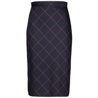 Gerry Weber Navy/Orange Check Skirt Style 710011.