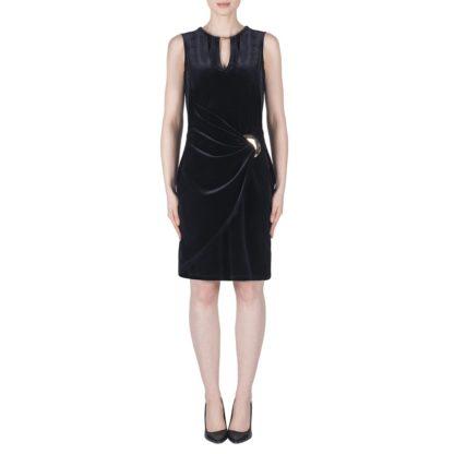 Joseph Ribkoff Navy Velvet Dress Style 183457.