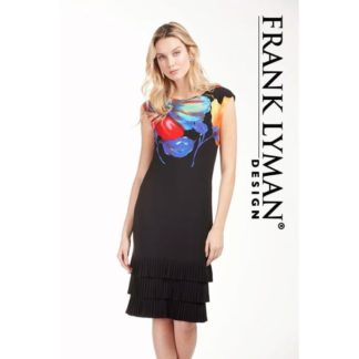 Frank Lyman Black Multi Dress Style 183656.