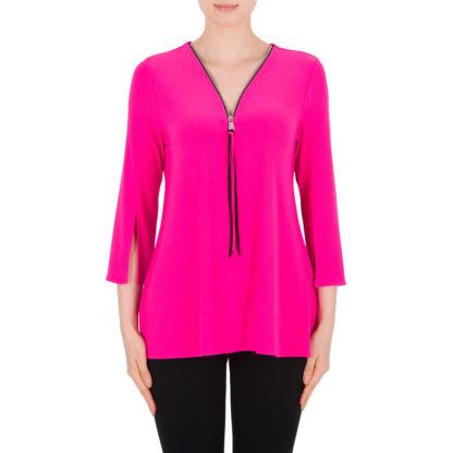 Joseph Ribkoff Neon Pink Top Style 191143.
