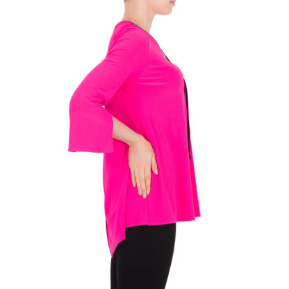Joseph Ribkoff Neon Pink Top.