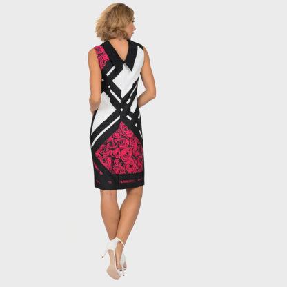 Joseph Ribkoff Black Multi Rose Dress.