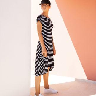 Joseph Ribkoff Black/White Stripe Dress Style 191914.
