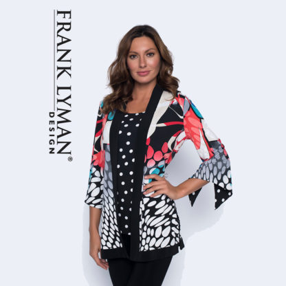 Frank Lyman Reversible Long Cover Up Style 191308FL.