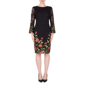 Joseph Ribkoff Black Multi Lace Dress Style 191500.