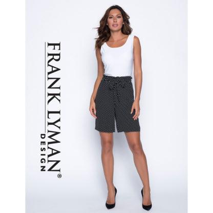Frank Lyman Black/White Spot Shorts Style 191396.