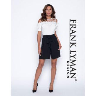 Frank Lyman Black Soft Shorts Style 191485.