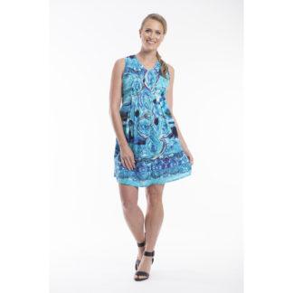 Orientique Tie Dye Shirt Dress Style 22272.