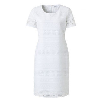 Just White Broderie Anglaise Dress Style 41453.