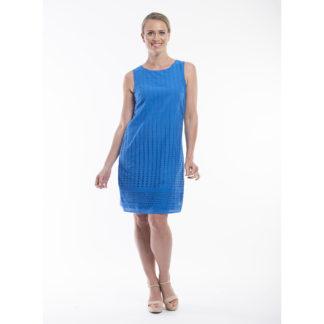 Orientique Broderie Marine Blue Cotton Dress Style 51501.