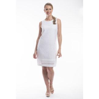 Orientique Broderie White Cotton Dress Style 51501.