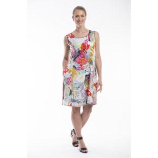 Orientique Print Dress Style 61274.