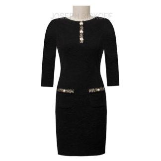 Joseph Ribkoff Black Pearl Dress Style 193444X.