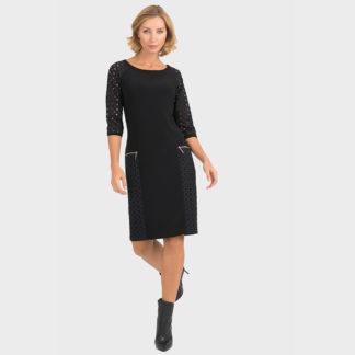 Joseph Ribkoff Black Cut Out Dress Style 193459.