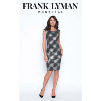 Frank Lyman Black/Silver/taupe Dress Style 193459.