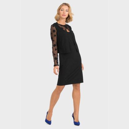 Joseph Ribkoff Black Dress Style 193504.