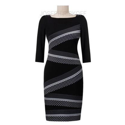 Joseph Ribkoff Black/White Dress Style 193675X.