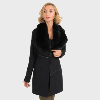 Joseph Ribkoff Black Coat Style 193727.