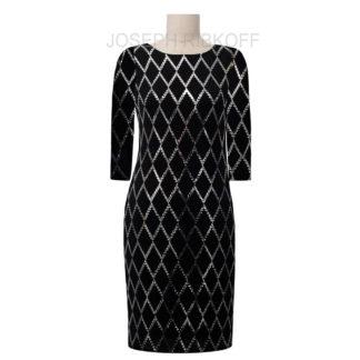 Joseph Ribkoff Black/Silver Dress Style 193796X.