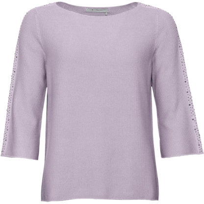 Monari Lilac Rhinestone Sweater Style 404321.