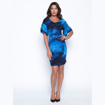 Frank Lyman Blue Multi Dress Style 193227.